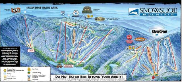 Snowshoe Mountain Trail Map